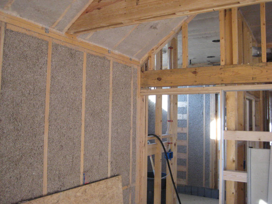 Wall Insulation Blown Cellulose : Dense pack cellulose insulation green build it